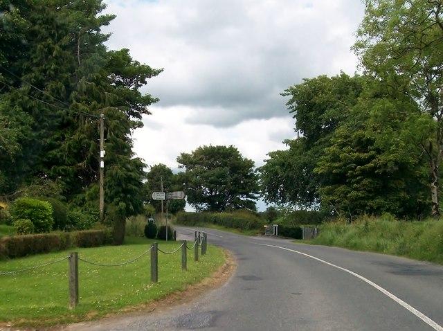 Approaching Boggan Cross Roads on the R164