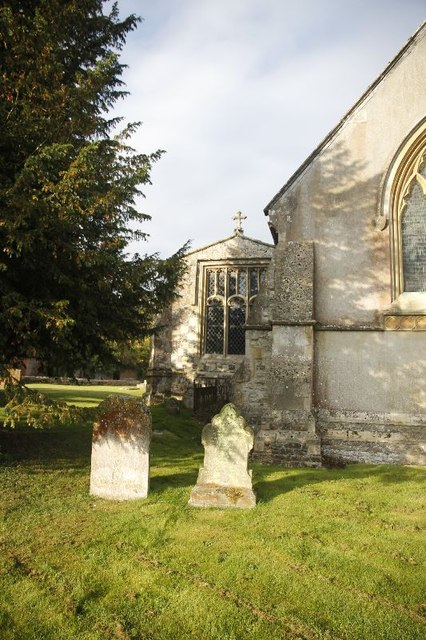 Two headstone by the corner