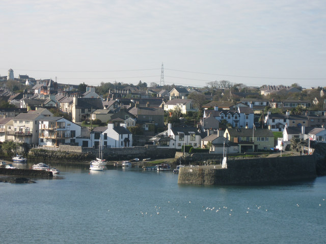 Cemaes town and harbour