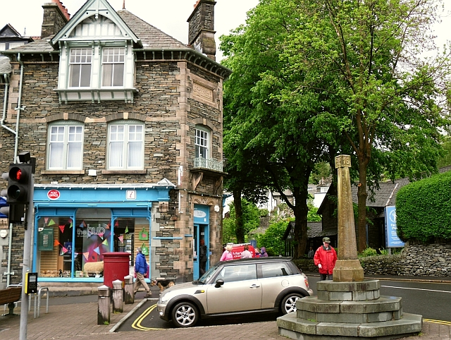 Post Office and market cross, Ambleside