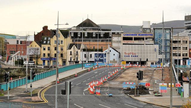 Repairs, Queen Elizabeth Bridge, Belfast (4)