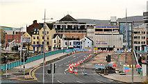 J3474 : Repairs, Queen Elizabeth Bridge, Belfast (4) by Albert Bridge