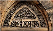 J3473 : Former St Malachy's primary school, Belfast (detail) by Albert Bridge