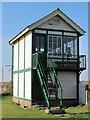 TQ9497 : Mangapps (formerly Haddiscoe) Junction Signal Box by Roger Jones