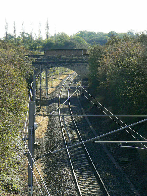 The old Nottingham - Melton railway line
