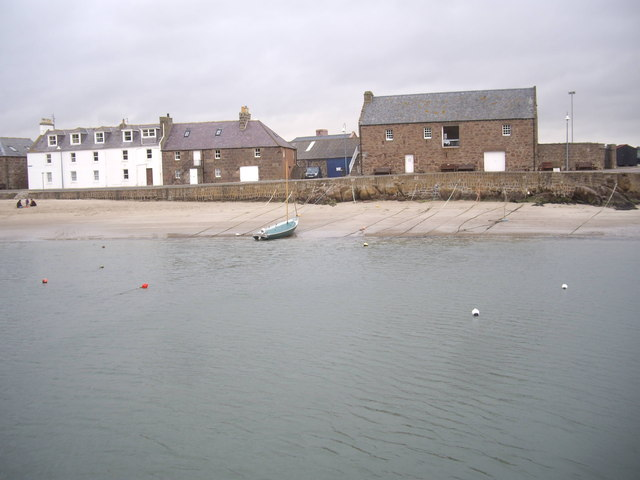 Houses and Tolbooth on Old Pier, Stonehaven