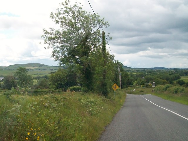 Approaching the Knocknaveagh Cross Roads