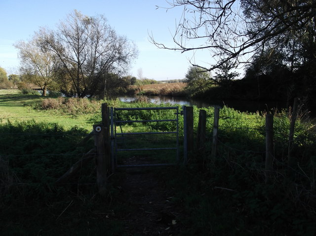 Small gate on the Thames Path at Kelmscott