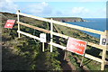 SW6043 : Coastal path diversion at Hudder Cove by Graham Horn