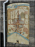 SY9287 : Wareham: town map at the Quay by Chris Downer