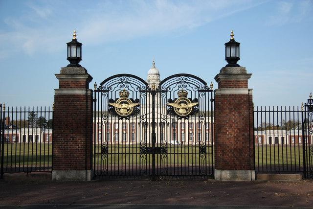 College Hall gates, RAF Cranwell