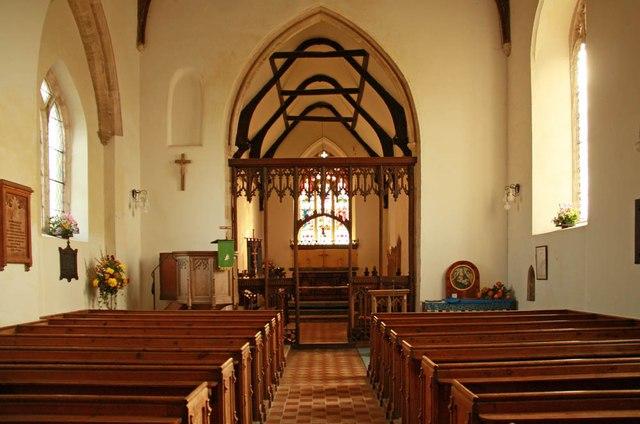 St John the Baptist, Aylmerton - East end