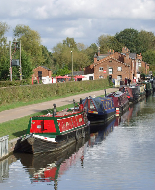 Trent and Mersey Canal at Fradley Junction, Staffordshire