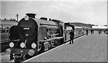 TQ2258 : Royal Train arriving at Tattenham Corner station on Derby Day by Ben Brooksbank