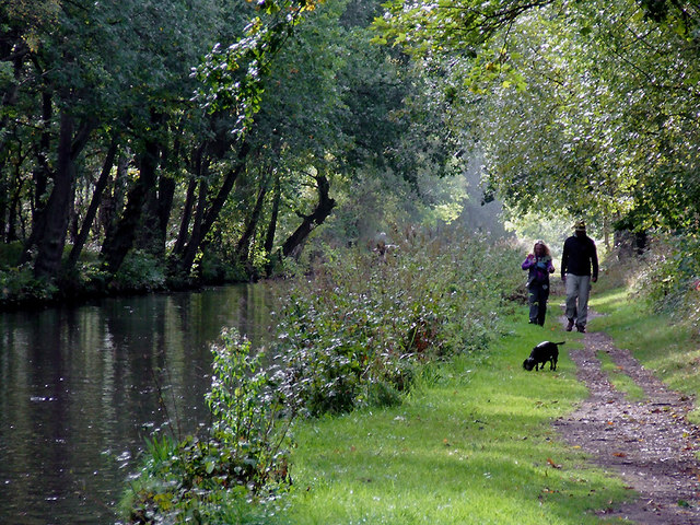 Canal and  towpath near Fradley Junction, Staffordshire