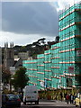 SZ0891 : Bournemouth: scaffolding in Richmond Hill by Chris Downer