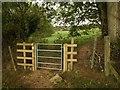 SY1192 : Gate on East Devon Way by Derek Harper