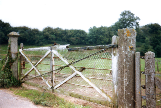 Disused  level crossing gate Gosford Road Ottery St Mary Devon