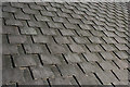 NJ2749 : Slate Roof by Anne Burgess