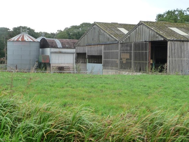 Silo and outbuildings at Osberton Park Farm