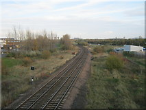 NZ5120 : Middlesbrough to Saltburn rail line seen from B1513 road bridge by peter robinson