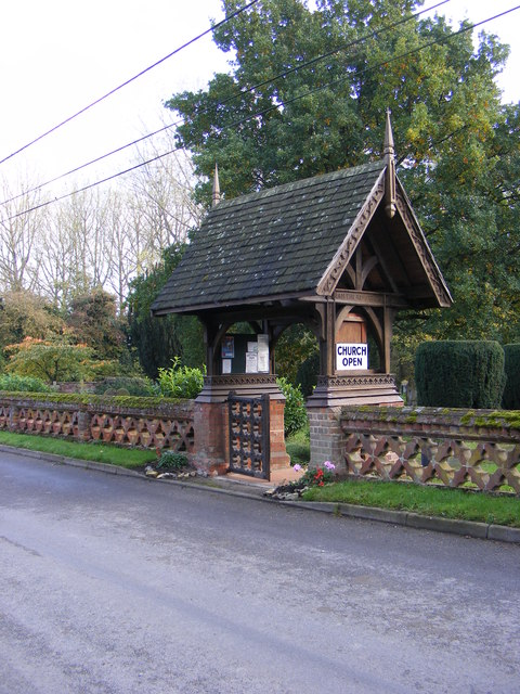 The Lych Gate of St.Mary Church, Brome