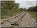 SS8383 : Railway line at the northern edge of Kenfig Hill by eswales