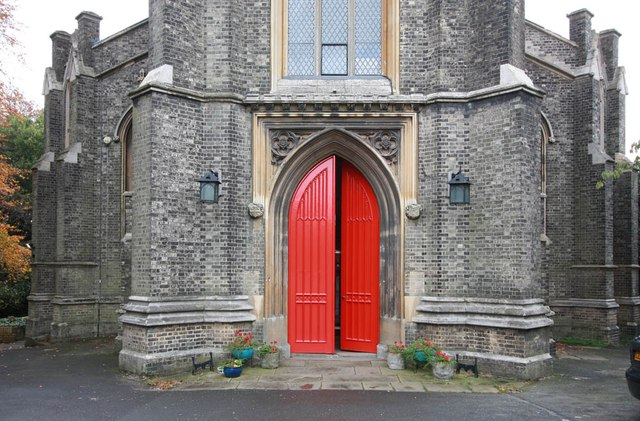 St Michael, South Grove, Highgate - West doorway