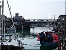 SY6778 : Weymouth Town Bridge by Nigel Mykura