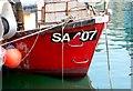SY6778 : Fishing Boat Bow by Nigel Mykura