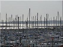 SZ3394 : Lymington: many, many masts by Chris Downer