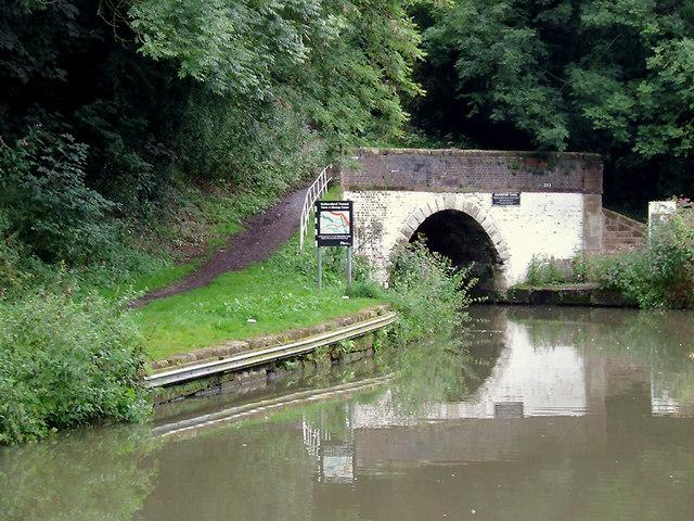 Saltersford Tunnel west of Barnton, Cheshire