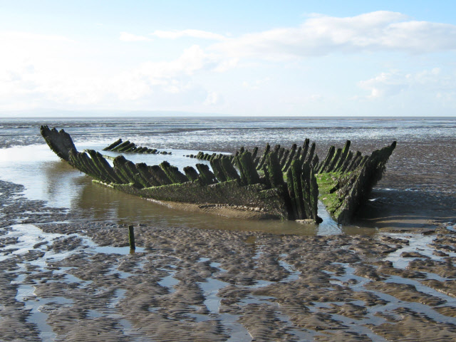 Shipwreck on Berrow Flats