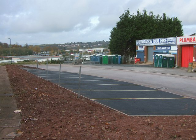 New parking spaces, Woodland Road