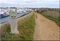 SZ3394 : Part of Solent Way Footpath by Mike Smith