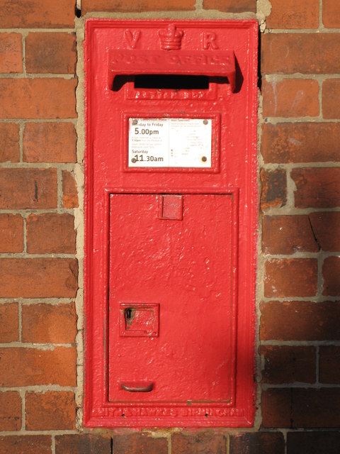 Victorian postbox, Wellfield Road / Hampstead Road, NE4