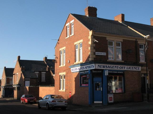General Dealer, Wellfield Road / Hampstead Road, NE4