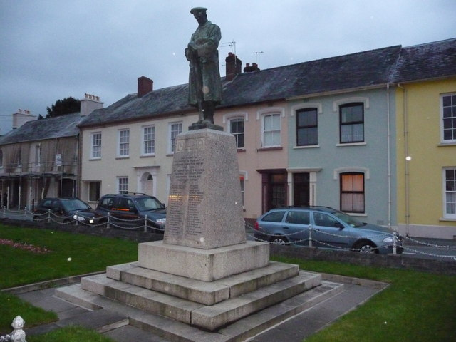War memorial in Llandovery in November