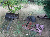 SK5802 : Abandoned items at St Mary's Allotments by Mat Fascione