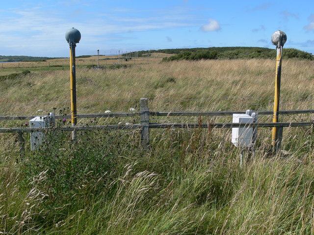 Landing lights on the RAF Valley perimeter