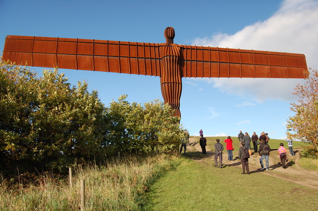 Angel of the North and worshippers
