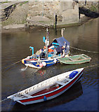 NZ7818 : Fishing coble in Staithes Beck by M H Evans