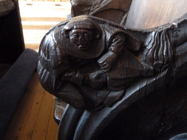 St  Botolph's - Choir Stall Carvings - 3