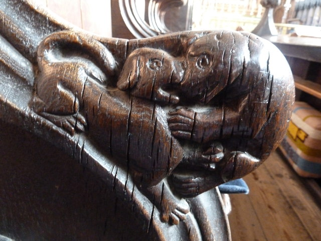 St  Botolph's - Choir Stall Carvings - 6
