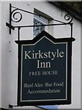 NY6754 : Sign for The Kirkstyle Inn, Knarsdale by Mike Quinn