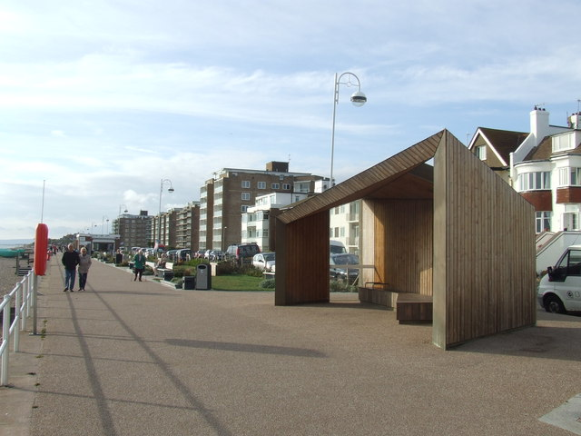 Shelter on Bexhill seafront