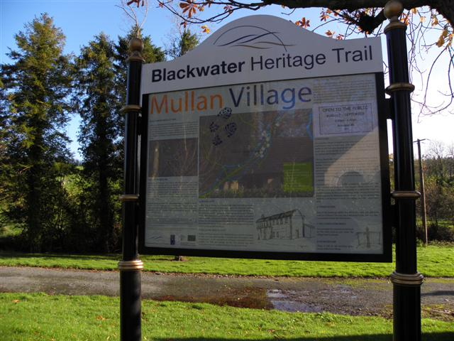 Mullan Village information board