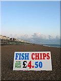 TQ3103 : Sign, Brighton Beach by Simon Carey
