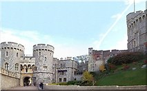 SU9777 : Windsor Castle, The Norman Gate by Len Williams