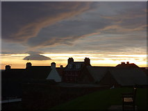 NT6779 : East Lothian Townscape : Daybreak Over The Volunteer Arms, Dunbar by Richard West